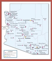 Arizona Meteorites Map