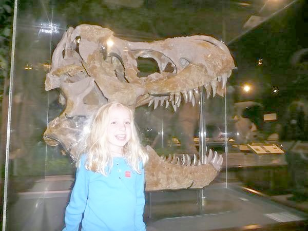 Museum of the Rockies - Zoe & T-Rex Skull