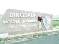 Zoe - Dino National Monument Sign (2009)