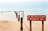 Site - Great Salt Plains crystals dig sign
