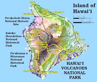 Site - Hawaii Volcanoes NP Map
