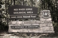 Site - Red River Gorge GA sign