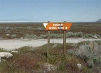 Site Dugway Geode Beds Sign