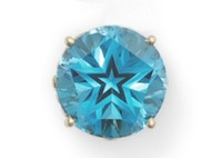 Texas - Gem - Texas Blue Topaz with Lone Star Cut
